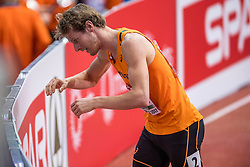 05-02-2017  SRB: European Athletics Championships indoor day 3, Belgrade<br /> Thijmen Kupers is er niet in geslaagd op de slotdag van de Europese indoorkampioenschappen in Belgrado de Nederlandse medaillevangst te verdubbelen. De nummer drie van de EK indoor in 2015 kwam in de finale van de 800 meter niet verder dan de vijfde plaats: 1.50,47.