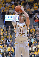 WICHITA, KS - NOVEMBER 14:  Guard Ron Baker #31 of the Wichita State Shockers puts up a shot against the William & Mary Tribe during the first half on November 14, 2013 at Charles Koch Arena in Wichita, Kansas.  (Photo by Peter G. Aiken/Getty Images) *** Local Caption *** Ron Baker