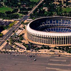 Aerial view of the Wachovia Spectrum and Veterans Stadium