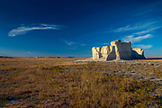 Kansas, Gove County, Monument Rocks, Chalk Pyramids, 80 Million Years Old, First National Natural Landmark, Sedimentary Formations