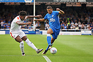 Peterborough United midfielder Colin Daniel (3) on the attack during the EFL Sky Bet League 1 match between Peterborough United and Luton Town at London Road, Peterborough, England on 18 August 2018.