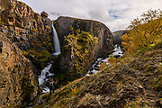 Godafoss waterfall in Mjardmá river.