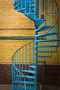 Spiral staircase on school building in Ystad, Sweden