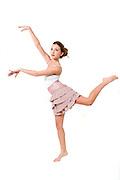 Teen dancer on On white Background