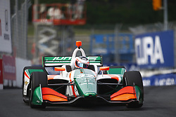 July 14, 2018 - Toronto, Ontario, Canada - RENE BINDER. (32) of Austria takes to the track to practice for the Honda Indy Toronto at Streets of Toronto in Toronto, Ontario. (Credit Image: © Justin R. Noe Asp Inc/ASP via ZUMA Wire)