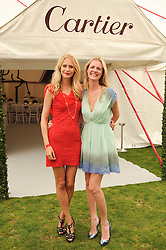 Left to right, POPPY DELEVINGNE and CHLOE DELEVINGNE at the Cartier International Polo at Guards Polo Club, Windsor Great Park, Berkshire on 25th July 2010.