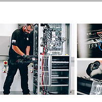 CS Electronics. Promotional imagery of people working in the lectonics industry