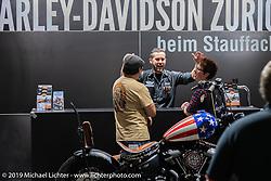 Harley Heaven Switzerland Harley-Davidson dealer display at the Swiss-Moto Customizing and Tuning Show. Zurich, Switzerland. Sunday, February 24, 2019. Photography ©2019 Michael Lichter.