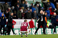 Burnley's Phillip Bardsley is dejected at the final whistle<br /> <br /> Photographer Rich Linley/CameraSport<br /> <br /> The Premier League - Burnley v Aston Villa - Wednesday 1st January 2020 - Turf Moor - Burnley<br /> <br /> World Copyright © 2020 CameraSport. All rights reserved. 43 Linden Ave. Countesthorpe. Leicester. England. LE8 5PG - Tel: +44 (0) 116 277 4147 - admin@camerasport.com - www.camerasport.com