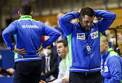 Ljubomir Vranjes, head coach of Slovenia reacts during handball match between National Teams of Sweden and Slovenia at Day 3 of IHF Men's Tokyo Olympic  Qualification tournament, on March 14, 2021 in Max-Schmeling-Halle, Berlin, Germany. Photo by Vid Ponikvar / Sportida
