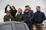 BECKY STEELE; HARRIET MATHIAS; NICOLE MATHIAS; SIMON LAURENCE;  GINNY ELLIOT; DAN GREENWOOD, The Heythrop Hunt Point to Point. Cocklebarrow. 24 January 2016