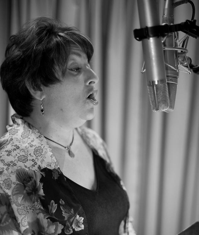 Sandra Dudley in the studio