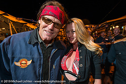 Jay Allen and Kristi Verhoff working the Boot Hill Saloon on Main Street during Daytona Bike Week. FL, USA. March 13, 2014.  Photography ©2014 Michael Lichter.