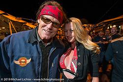 Jay Allen and Kristi Verhoff working the Boot Hill Saloon on Main Street during Daytona Bike Week. FL, USA. March 13, 2014.  Photography ©2014 Michael Lichter.