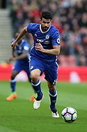 Diego Costa of Chelsea in action. Premier league match, Stoke City v Chelsea at the Bet365 Stadium in Stoke on Trent, Staffs on Saturday 18th March 2017.<br /> pic by Andrew Orchard, Andrew Orchard sports photography.