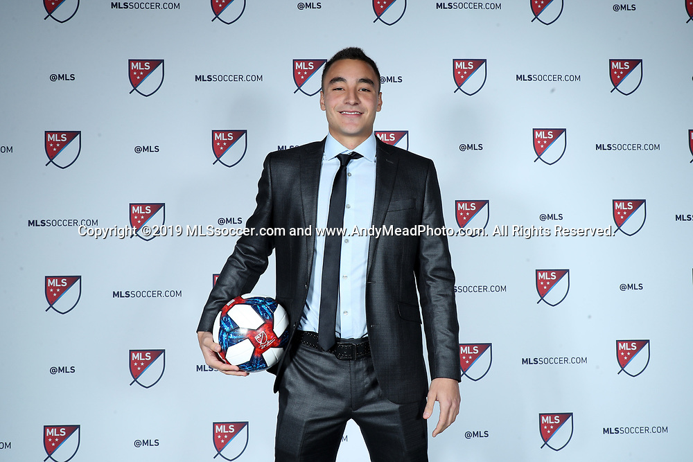 CHICAGO, IL - JANUARY 11: Andre Shinyashiki was taken with the fifth overall pick by the Colorado Rapids. The MLS SuperDraft 2019 presented by adidas was held on January 11, 2019 at McCormick Place in Chicago, IL.