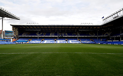 """General view of the ground ahead of the Premier League match at Goodison Park, Liverpool. PRESS ASSOCIATION Photo. Picture date: Sunday October 1, 2017. See PA story SOCCER Everton. Photo credit should read: Martin Rickett/PA Wire. RESTRICTIONS: EDITORIAL USE ONLY No use with unauthorised audio, video, data, fixture lists, club/league logos or """"live"""" services. Online in-match use limited to 75 images, no video emulation. No use in betting, games or single club/league/player publications."""