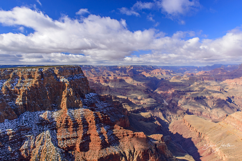 Grand Canyon from the South Rim in winter, from Lipan Point, Grand Canyon National Park, Arizona, USA