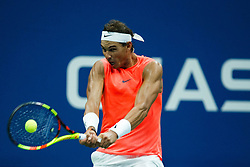 August 31, 2018 - Flushing Meadow, NY, U.S. - FLUSHING MEADOW, NY - AUGUST 31: RAFAEL NADAL (ESP) day five of the 2018 US Open on August 31, 2018, at Billie Jean King National Tennis Center in Flushing Meadow, NY. (Photo by Chaz Niell/Icon Sportswire) (Credit Image: © Chaz Niell/Icon SMI via ZUMA Press)