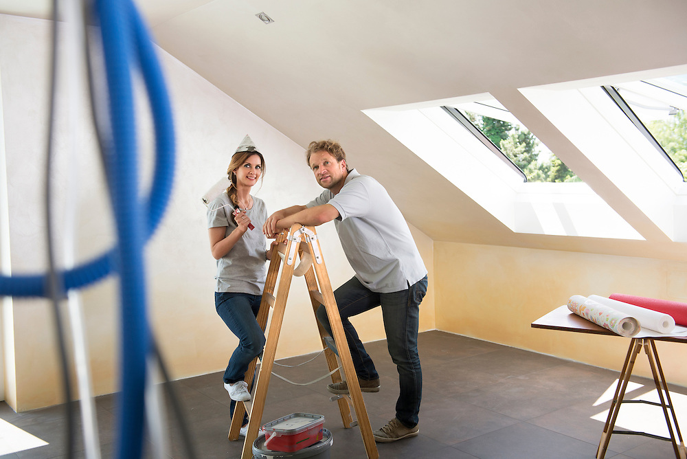 Planning decorating young couple new home