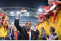 6 July 2013; Simon Zebo, British & Irish Lions, leaves the field after the game. British & Irish Lions Tour 2013, 3rd Test, Australia v British & Irish Lions. ANZ Stadium, Sydney Olympic Park, Sydney, Australia. Picture credit: Stephen McCarthy / SPORTSFILE