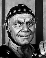 American actor Ernest Borgnine seen during the filming of the CBS TV mini series 'Last Days of Pompeii' in 1983. Photograph by Terry Fincher