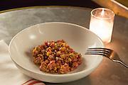 New York, NY, Sept. 10....shots of the restaurant Estela. Beef tartare with sunchoke.
