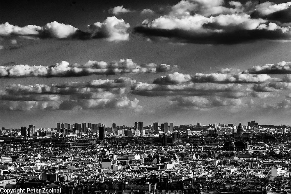 Clouds over Paris, France.