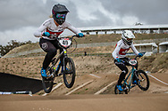 #49 (TUCHSCHERER Daina) CAN (GT) and #108 (SIMPSON Molly) CAN at Round 3 of the 2020 UCI BMX Supercross World Cup in Bathurst, Australia.