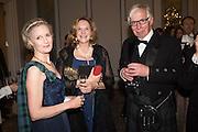 MRS. ROBIN PEARSE-WHEATLEY; MRS. COLIN CHURCH; RONNIE HUNTER-BLAIR, The Royal Caledonian Ball 2016. Grosvenor House. Park Lane, London. 29 April 2016