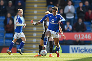 Chesterfield forward Jacob Brown (44) during the EFL Sky Bet League 2 match between Chesterfield and Notts County at the b2net stadium, Chesterfield, England on 25 March 2018. Picture by Jon Hobley.