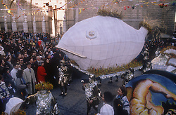Carnival in Toledo with La Sardina  the sardine  being carried in procession,