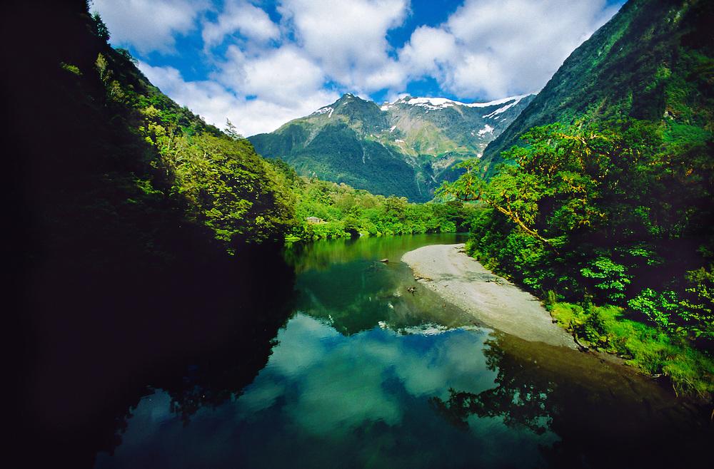 Arthur River, Milford Track, south island, New Zealand
