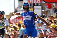 Fernando Gaviria (COL - QuickStep - Floors) during the Tour de France 2018, Stage 1, Noirmoutier -en-l'île - Fontenay-le-Comte (201km) on July 7th, 2018 - Photo Luca Bettini / BettiniPhoto / ProSportsImages / DPPI