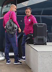 Pep Guardiola commits the ultimate sin of football team travel and forgets his passport. Pep got off the team bus and looked in his bag before getting back on the bus for 30 minutes while his passport was located and delivered in a chauffeur driven Mercedes Pep realises there is no passport in his bag as the Manchester City team arrive at Manchester Airport as they jet for Iceland