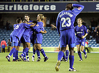 Photo:  Frances Leader.Digitalsport<br /> Millwall v Derby county. Coca-Cola championship league one. The Den.<br /> 22/09/2004<br /> Millwall celebrate Paul Ifill's goal in the last minute of extra time.