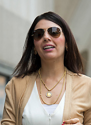 © London News Pictures. 21/08/2012. London, UK.  Nur Nadir, wife of Cypriot businessman Asil Nadir arriving at The Old Bailey, in London on August 21, 2012 where her husband is currently waiting for a jury to return a verdict on nine charges in the Polly Peck fraud case. The Old Bailey jury found Nadir, 71, guilty yesterday (Mon) of three counts of theft amounting to a total of more than £5.5 million.. Photo credit : Ben Cawthra/LNP