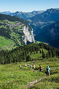 Gimmelwald, Lauterbrunnen Valley, in Bern canton, Switzerland, Europe. For licensing options, please inquire.