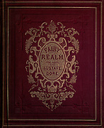 Leather book binding from an 19th century Fairy Tales book illustration by Gustave Dore from the book Fairy realm. A collection of the favourite old tales. Illustrated by the pencil of Gustave Dore by Tom Hood, (1835-1874); Gustave Doré, (1832-1883) Published in London by Ward, Lock and Tyler in 1866