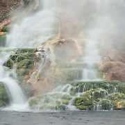 Runoff from the Midway Geyser Basin pours into the Firehole River. Yellowstone National Park
