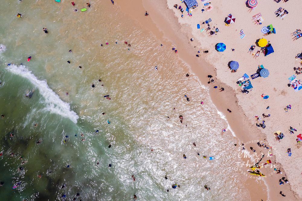 Aerial photo of Kings Beach, Caloundra, Sunshine Coast, Queensland, Australia