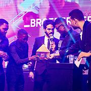 NLD/Rotterdam/20161102 - MTV Music Week Official Opening Party 2016, Broederliefde wint MTV EMA voor Best Dutch Act