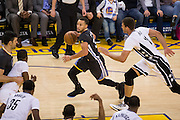 Golden State Warriors guard Stephen Curry (30) handles the basketball against the Brooklyn Nets at Oracle Arena in Oakland, Calif., on February 25, 2017. (Stan Olszewski/Special to S.F. Examiner)
