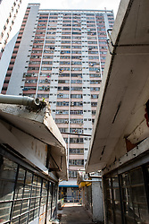 September 29, 2018 - Hong Kong, Hong Kong SAR, China - The densely populated Choi Wan Estate, East Kowloon Hong Kong. The hygiene condition of the estate has been brought into question following the revelation of the worlds first rat variation of hepatitis E found in a 56-year old male resident. (Credit Image: © Jayne Russell/ZUMA Wire)