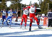 NM på ski Savalen 2004,  50 km herrer<br />Eivind Juul Pedersen, Harestua foran Jan Egel Andresen, Brynjar Skjærli og Johan Ekne Kjølstad<br />Foto: Carl-Erik Eriksson, Digitalsport