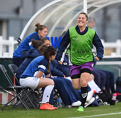 Mary Earps of Bristol Academy Women warms-up - Mandatory by-line: Paul Knight/JMP - Mobile: 07966 386802 - 29/08/2015 -  FOOTBALL - Stoke Gifford Stadium - Bristol, England -  Bristol Academy Women v Birmingham City Ladies FC - FA WSL Continental Tyres Cup