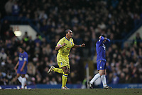 Photo: Lee Earle.<br /> Chelsea v Colchester United. The FA Cup. 19/02/2006. Colchester's Chris Iwelumo (C) celebrates after Ricardo Carvalho's own goal.