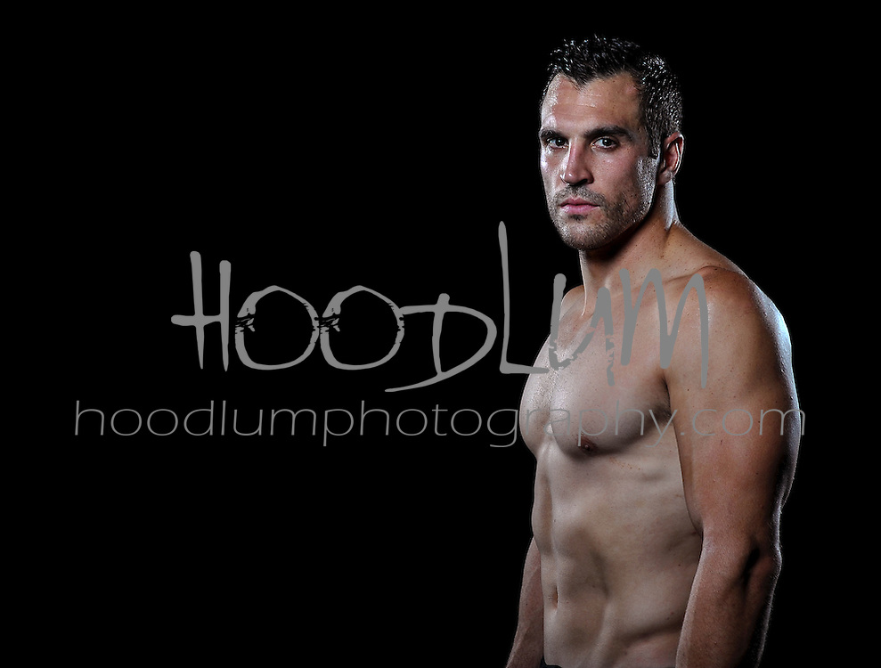 "Portrait of MMA Cage fighter Josh ""Superman"" Cavan.  Taken for Prize Fighting Championship Events."