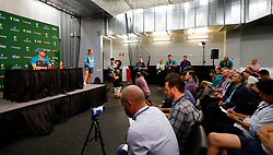 Australia's Steve Smith during a press conference at the Adelaide Oval, Adelaide.