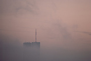 World Trade Center Fog, New York City, New York, USA, November 1982